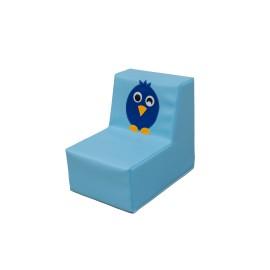 Sofá individual pájaro azul
