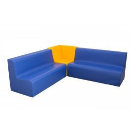 Conjunto sofá esquinera y 2 sofás dobles
