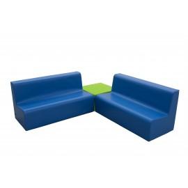 Conjunto sofás con cuadrado y 2 sofás dobles
