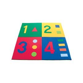 Children play mat: numbers