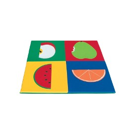 Children play mat: fruits 150x150x3cm