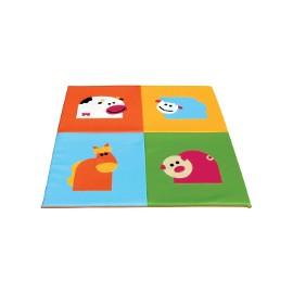 Children play mat: Farm animals 150x150x3cm