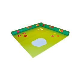 Field mat with barrier