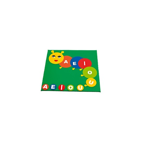 Children play mat: little worm