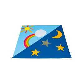 Children's mat: day and night