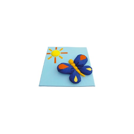 Children's mat with butterfly