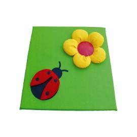 Children's mat with ladybug