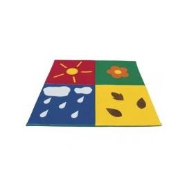 Children play mat: 4 Seasons 130x130x3cm